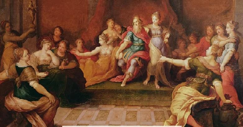 Соломон с женами